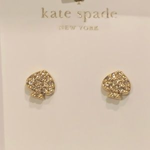 Kate Spade! Pave Logo Stud Earrings